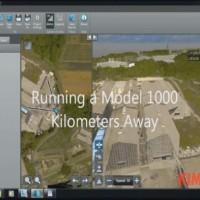 running a model1000 kilometers away